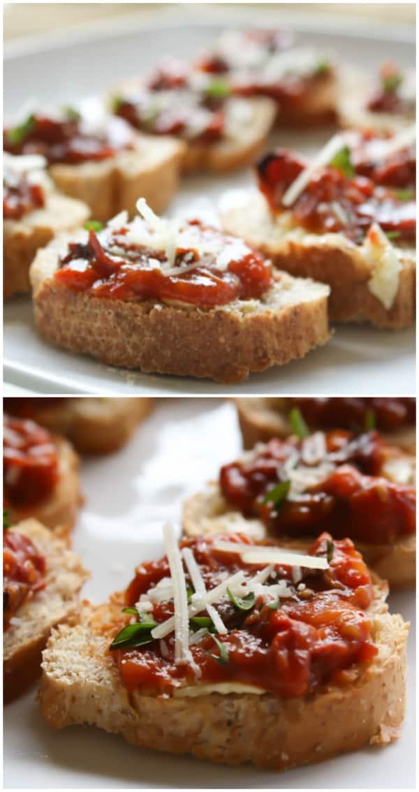 Homemade Sundried Tomatoes Bruschetta