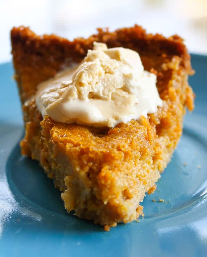 Graham Cracker Crusted Pumpkin Pie