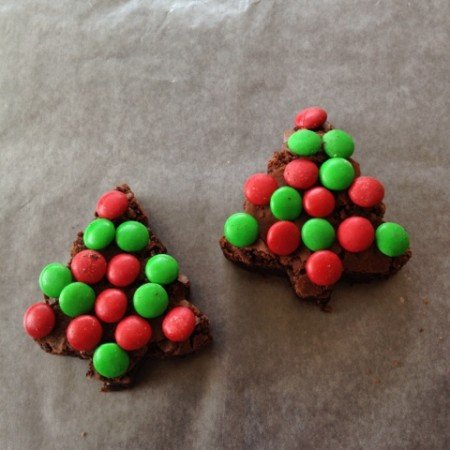 Christmas Brownie Trees