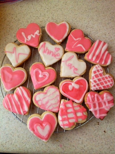 Heart Shaped Valentineu0027s Day Cookies