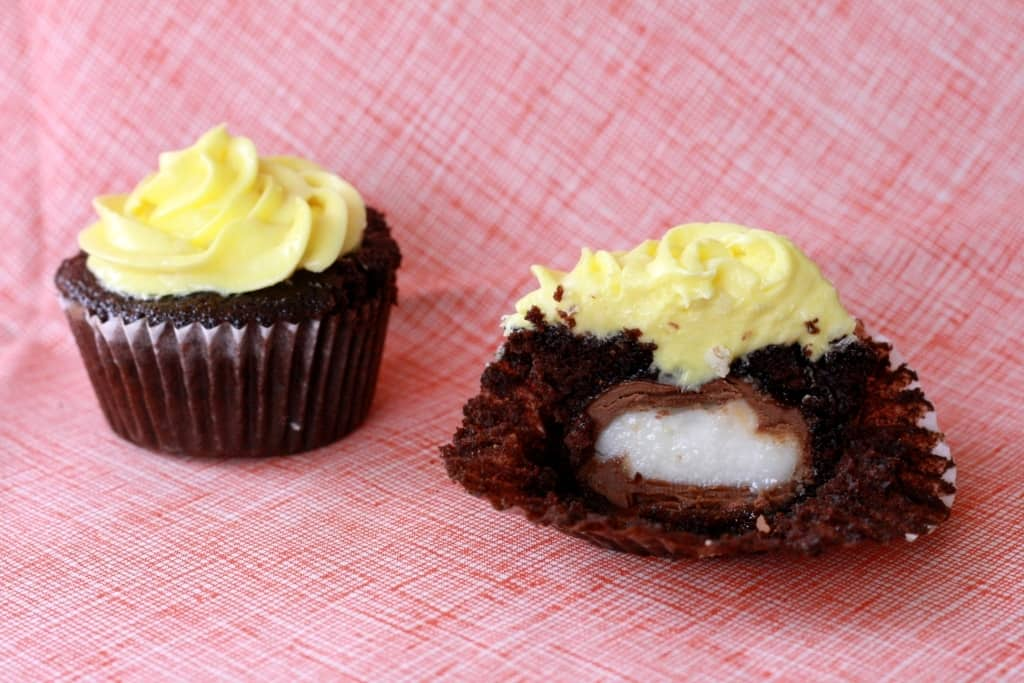 Cadbury Surprise Egg Cupcakes