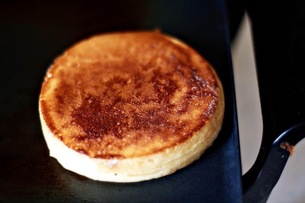 Pancake in a pan.