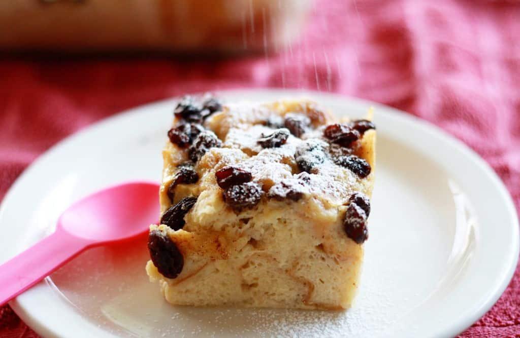 Traditional Birthday Bread Pudding