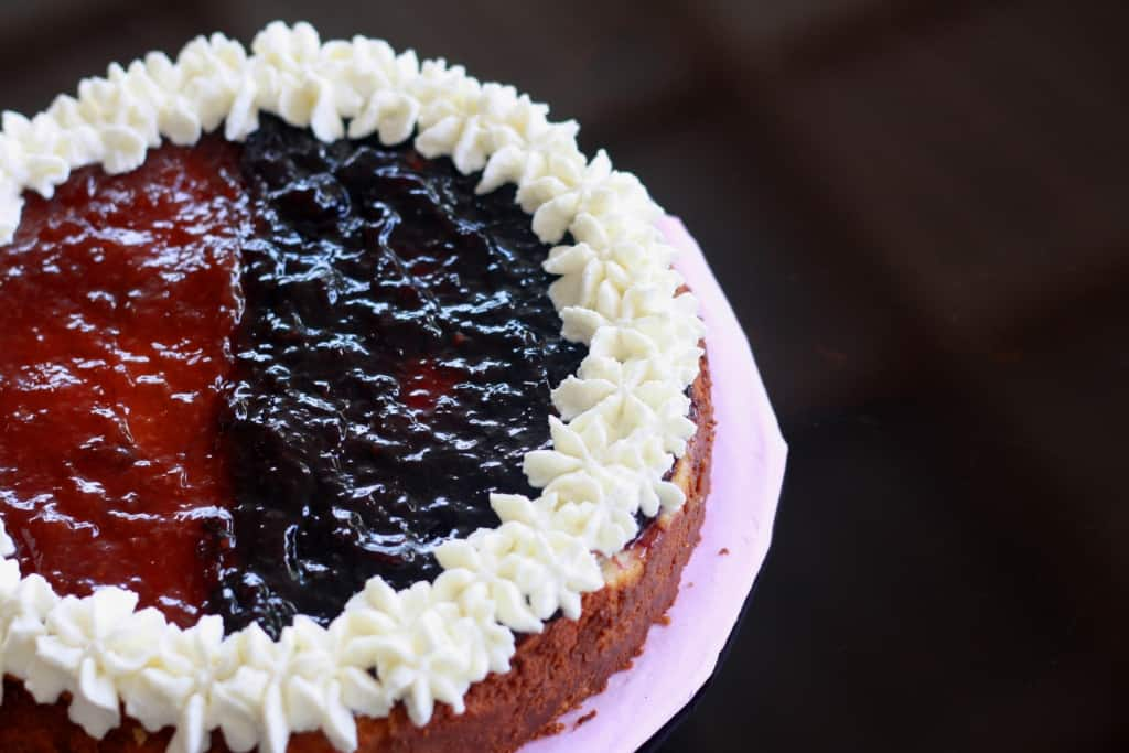 Blueberry and Strawberry Cheesecake