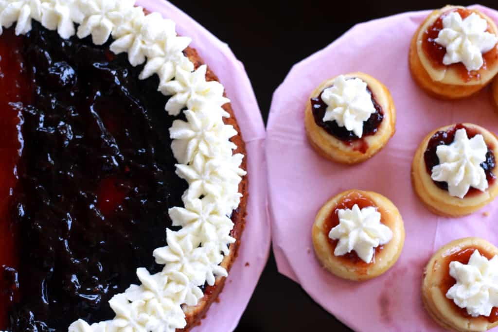 Strawberry & Blueberry Gluten Free Cheesecake