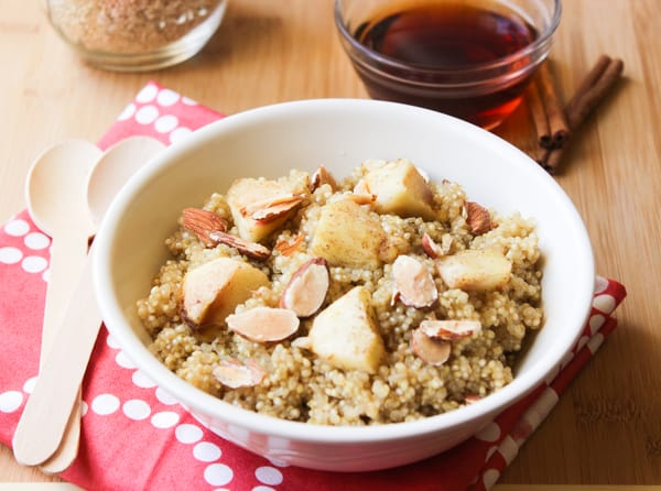 Delicious and Healthy Breakfast - Cinnamon Apple Maple Quinoa