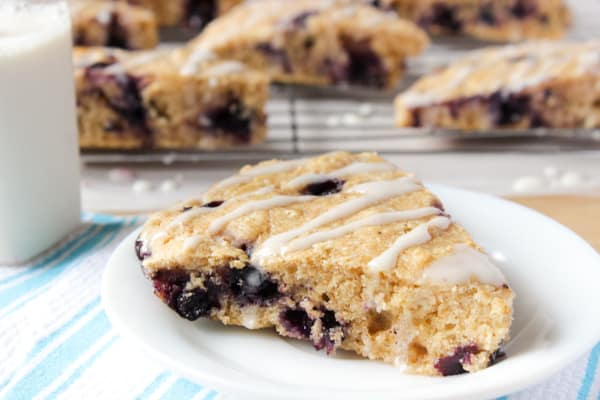 These Healthier Lemon Blueberry Scones with Lemon Cream Cheese Glaze were by FAR my most favourite scones! They are loaded with blueberry flavour, so soft and so delicious!