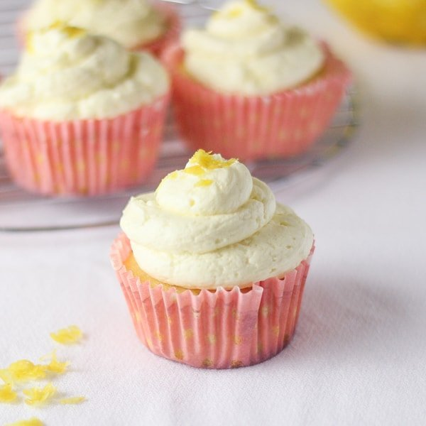 Lemon Cupcakes with Whipped Buttercream Frosting