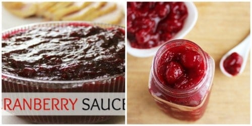 Before and After Cranberry Sauce