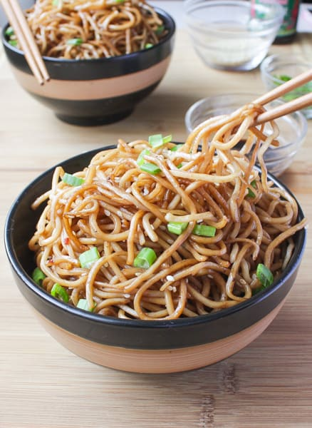 Sesame Noodles with Honey Ginger Sauce-2
