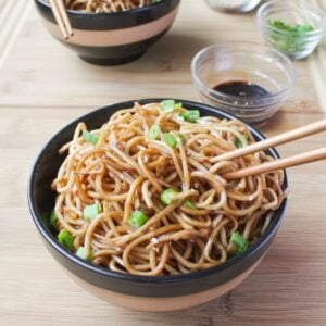 Sesame Noodles with Honey Ginger Sauce-6
