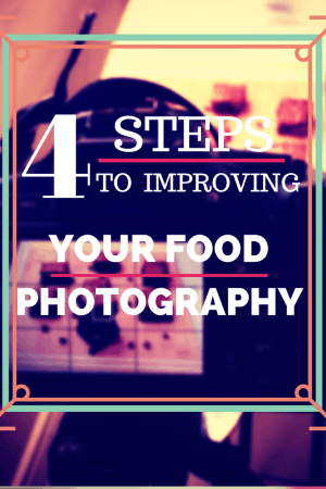 Title slate for 4 Steps to Improving Your Food Photography.
