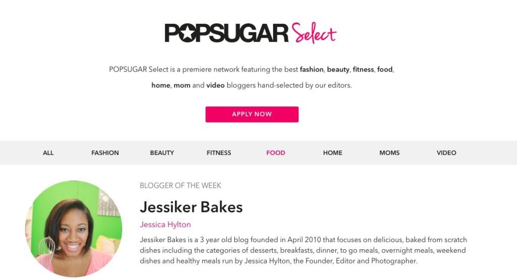 POPSUGAR Select webpage.