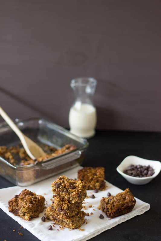 Triple Chocolate Oatmeal Cookie Bars