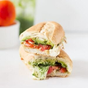 Caprese Sandwich with Parsley Pesto-5
