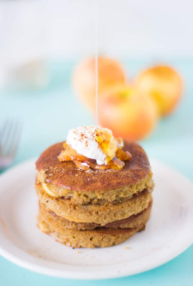 Apple Pie Pancakes (Healthy & Gluten Free)
