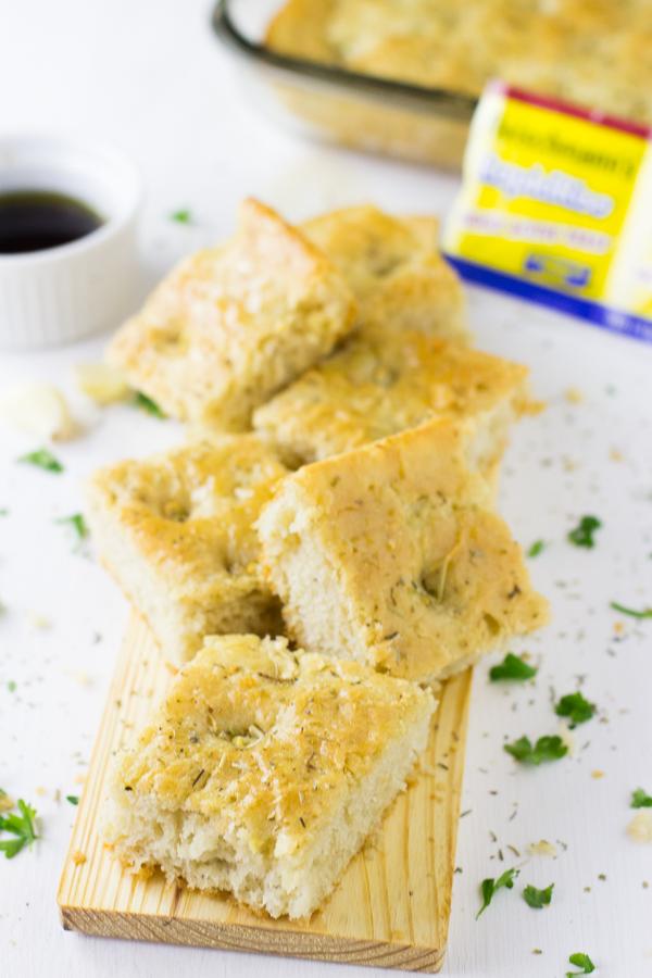 Garlic and Rosemary Focaccia Bread