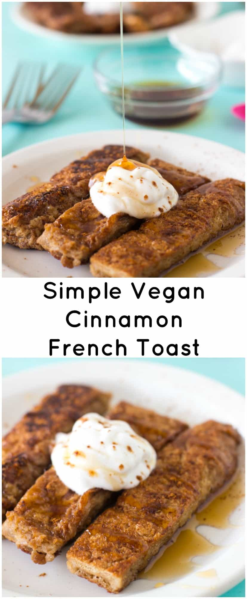 Vegan french toast jessica in the kitchen this vegan french toast is made with just 5 ingredients is so deliciously crisp on solutioingenieria Choice Image