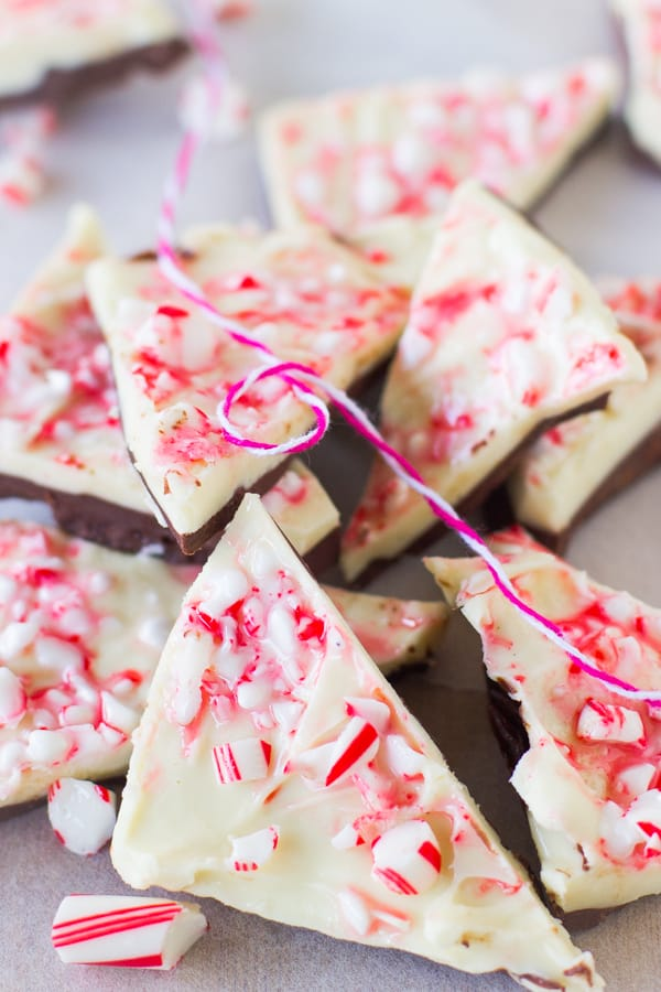 This White Chocolate Peppermint Bark is so easy to make it's barely a recipe. It's a MUST for Christmas!-2