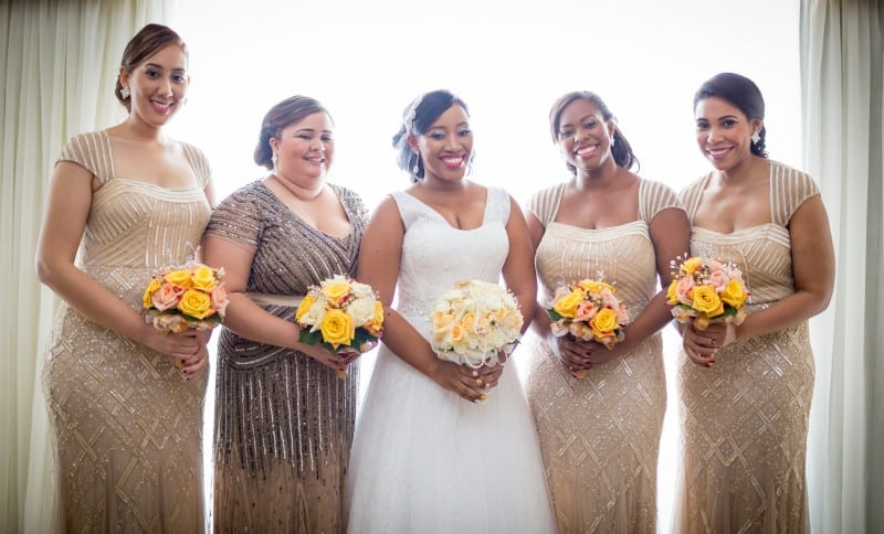 Jessica and her bridesmaids.