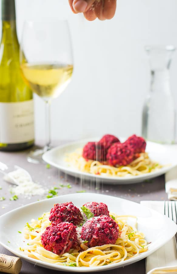 These Chickpea and Beet Vegetarian Meatballs are a sweet and spicy protein packed dish that are great as for dinner or even an appetizer!