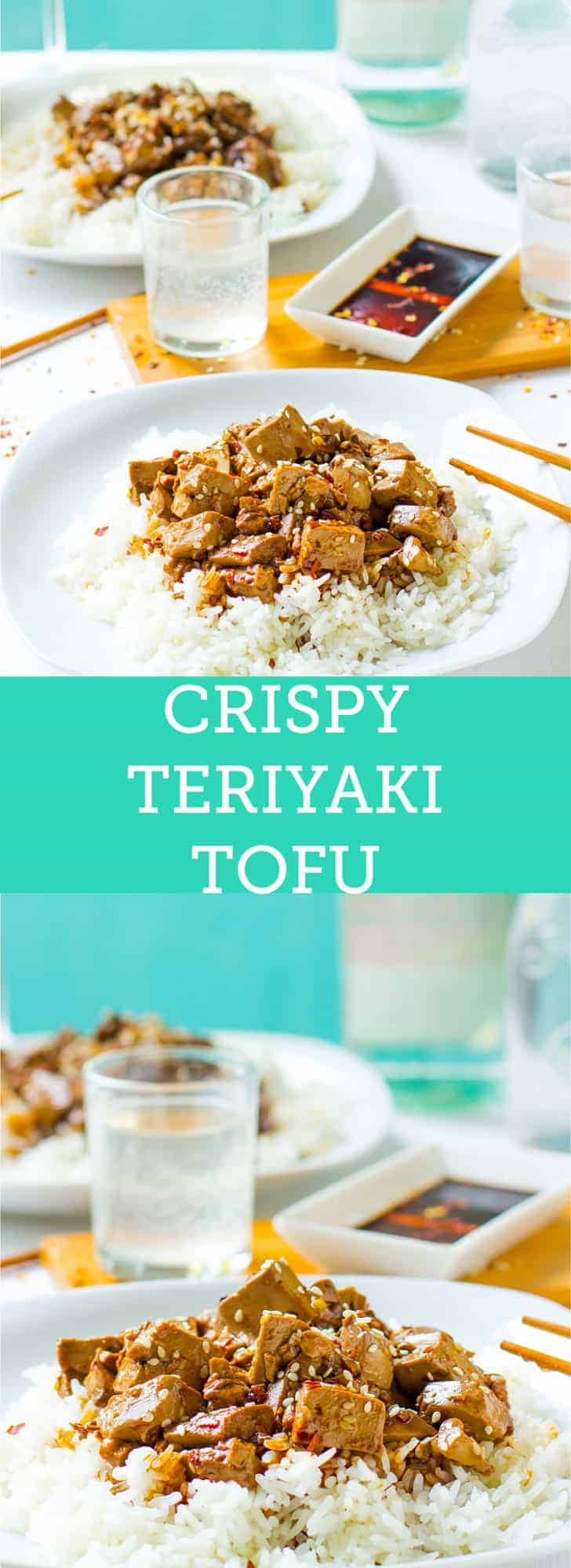 This Crispy Teriyaki Tofu is a quick, incredibly flavourful, make ahead dish! It's WAY better than takeout and perfect for weeknight dinners.