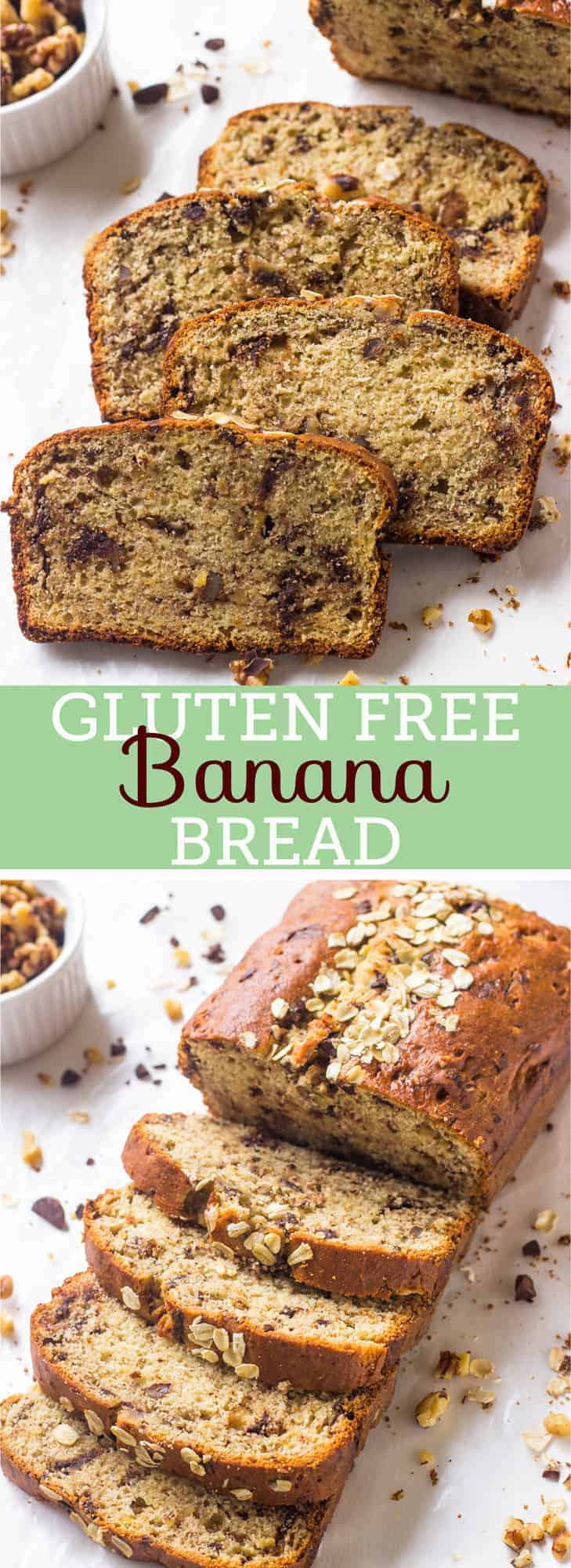 This Gluten Free Banana Bread is a tried and true banana bread! It's soft, moist, healthy and refined sugar free!-4