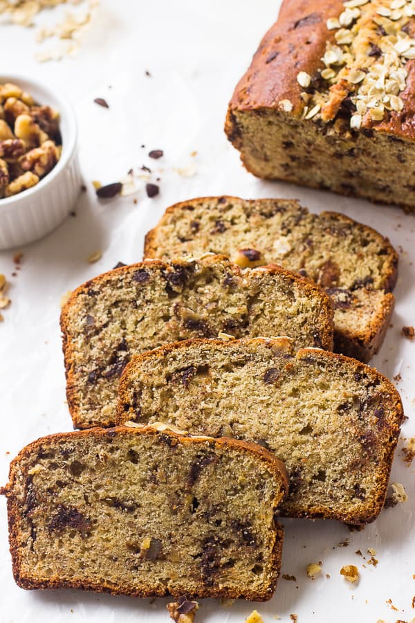 Healthy gluten free banana bread jessica in the kitchen healthy gluten free banana bread forumfinder Images