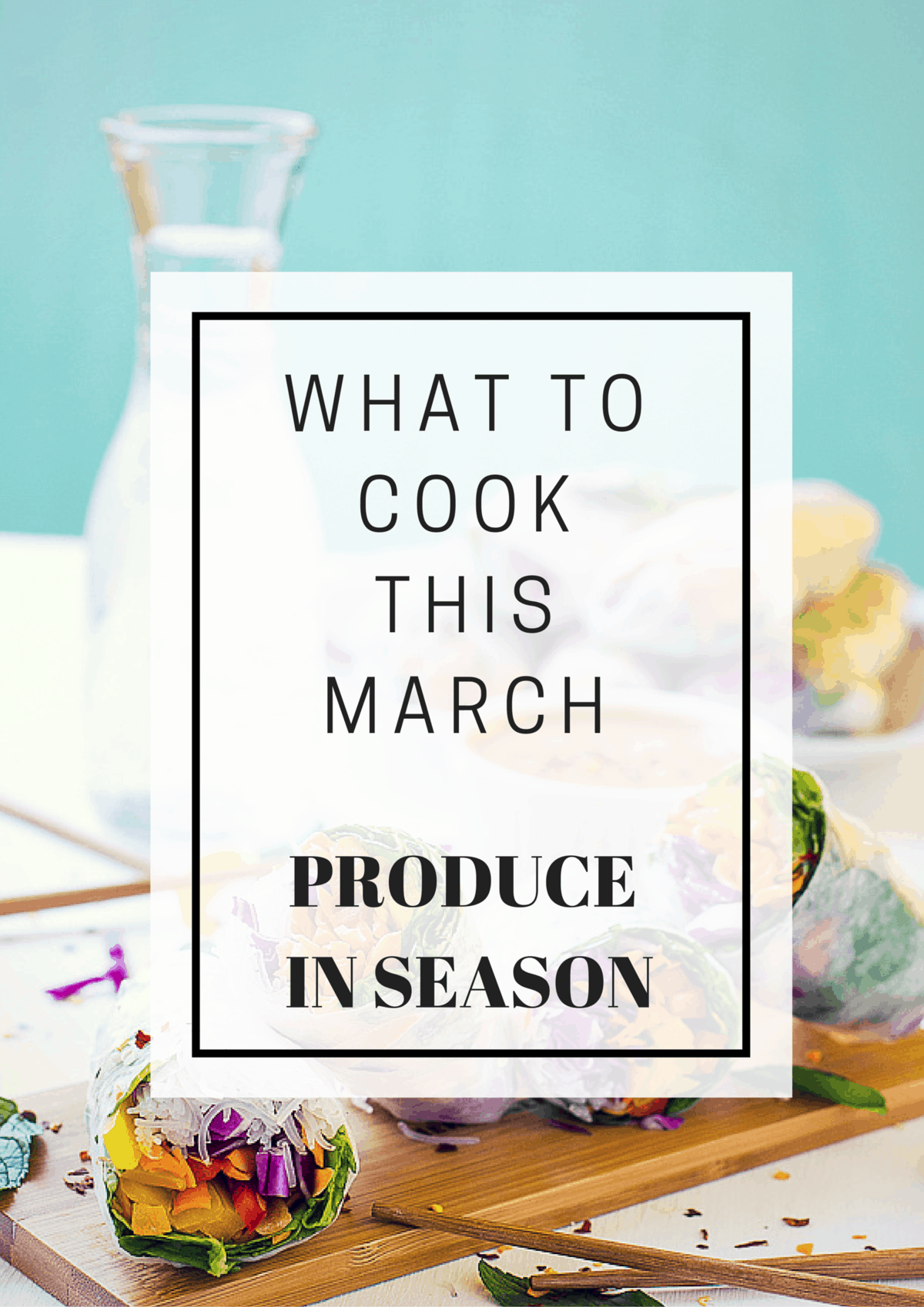 What to cook this march title graphic.