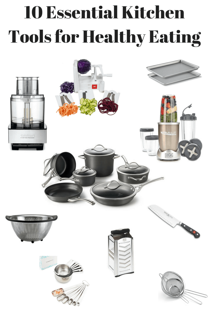 Different kitchen utensils on a white background.