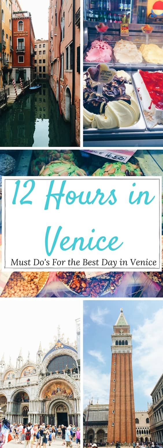 12 Hours in Venice - Here's your ULTIMATE must do guide for the best day in Venice! This is the best if you have a long layover or are only spending a day.