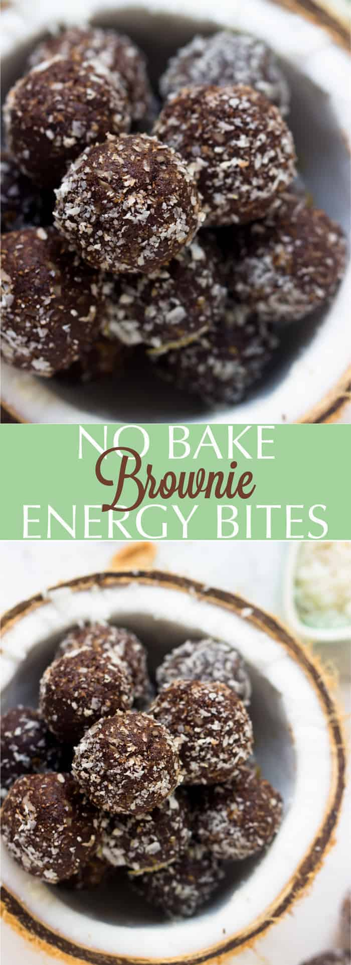 These No Bake Brownie Energy Bites are made with only 5 ingredients, vegan and gluten-free and are a perfect quick healthy breakfast or snack!