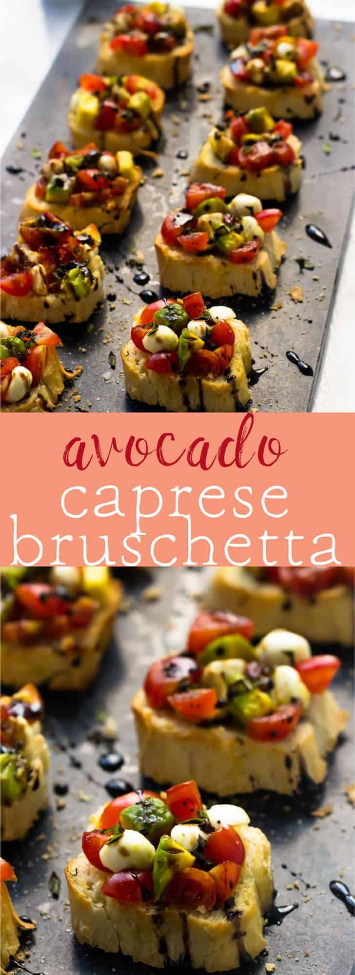 This 10 minute Avocado Caprese Bruschetta makes for the perfect quick appetiser that's always a crowd pleaser! via https://jessicainthekitchen.com