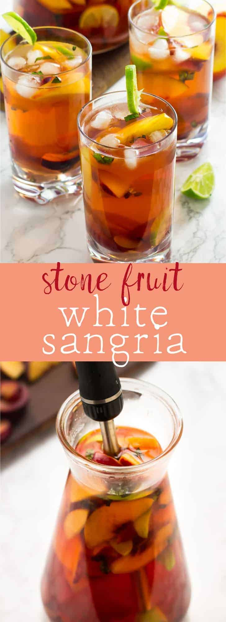 This Stone Fruit Sangria with Peaches and Plums is about to become your new favourite sangria!! Loaded with delicious sweet peaches and plums you can't stop at one glass! via https://jessicainthekitchen.com