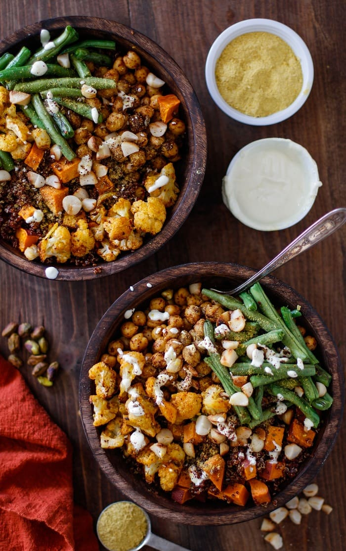 roasted_cauliflower_sweet_potato_chickpea_and_green_bean_quinoa_buddha_bowls_3