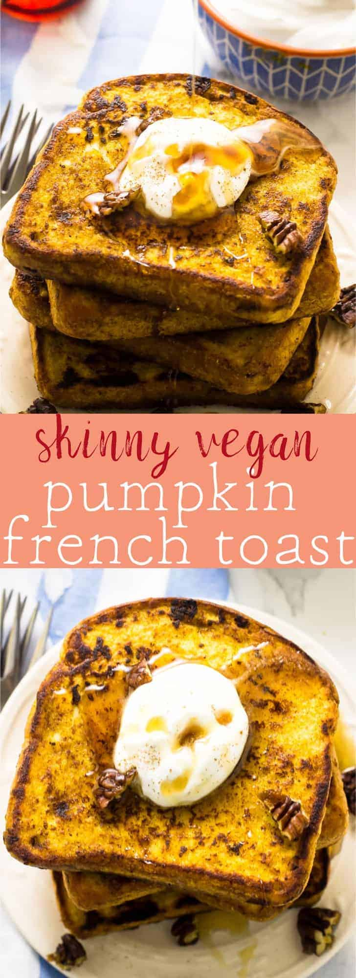 This Vegan Pumpkin French Toast is deliciously crispy on the outside, soft on the inside and done in just 30 minutes! It's healthy, nutritious and loaded with pumpkin flavour! via https://jessicainthekitchen.com