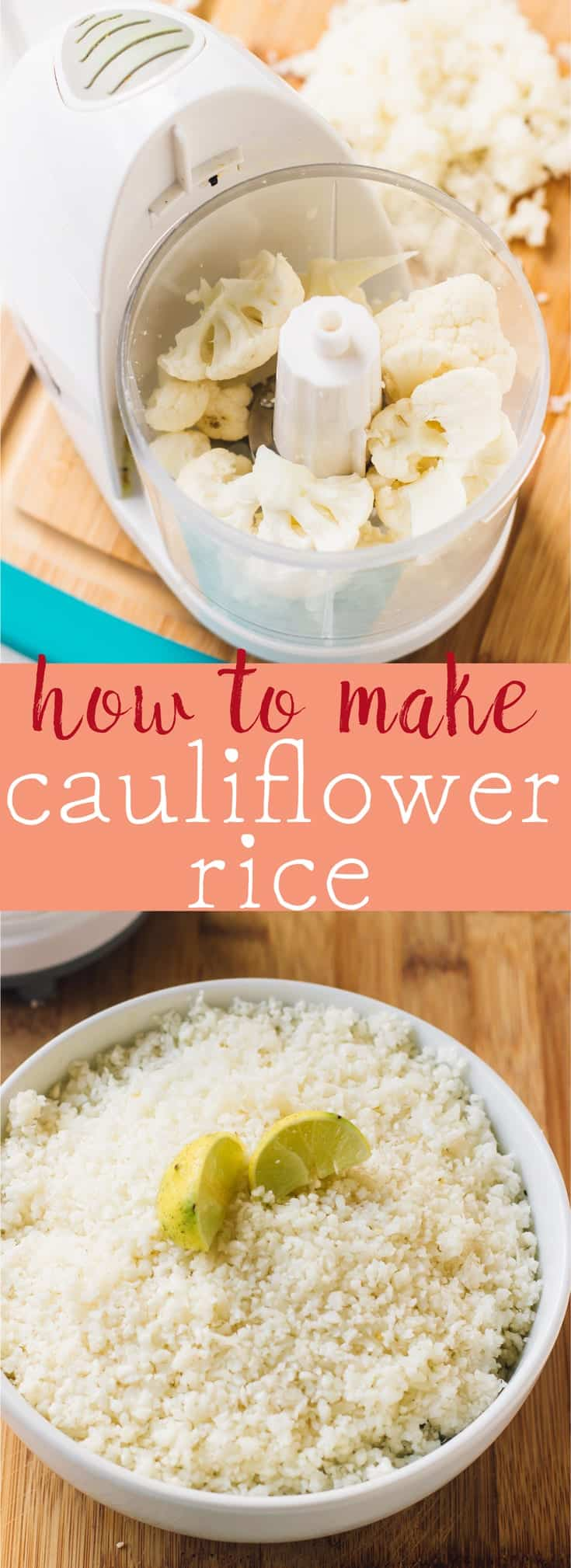 Learn how to make cauliflower rice in a few short steps in 15 minutes! So easy, and a great low carb and low cal alternative to regular rice!