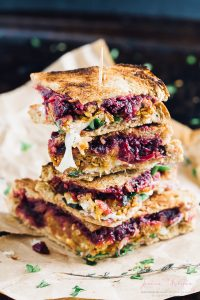 This Vegetarian Meatloaf and Cranberry Thanksgiving Leftover Sandwich is the perfect way to use up your Thanksgiving leftovers! Loaded with lots of flavour, so easy and so delicious! via https://jessicainthekitchen.com