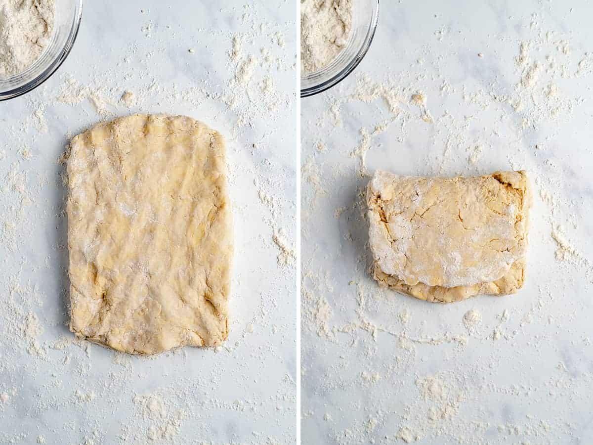step by step shots of how to make vegan biscuits