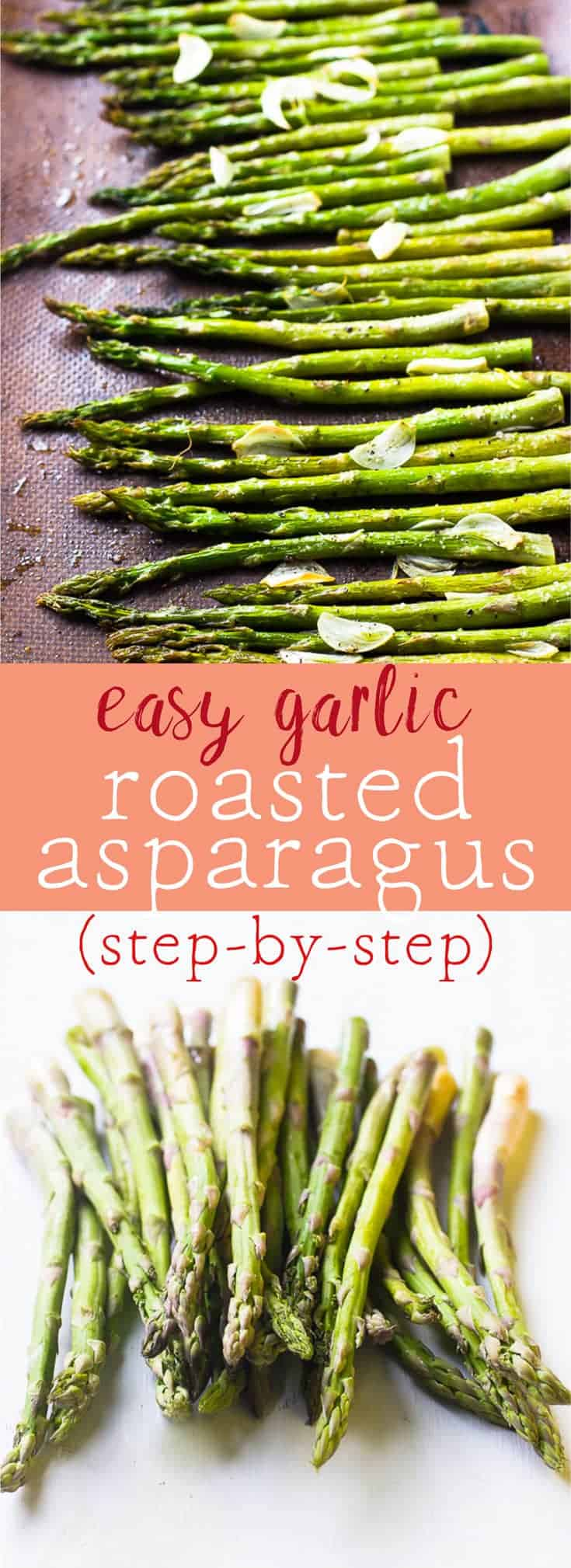 Garlic Roasted Asparagus is a must-make staple dish in my house. They are crunchy and flavourful. Here's a step-by-step how to guide for roasting asparagus. via https://jessicainthekitchen.com