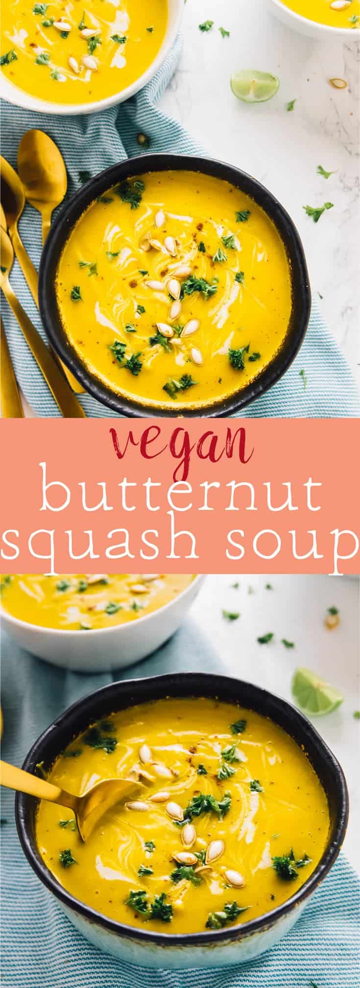This Vegan Butternut Squash Soup is made in just one pot, blended to creamy perfection and done in 30 minutes. It's vegan, gluten free, and made with all natural ingredients! via https://jessicainthekitchen.com