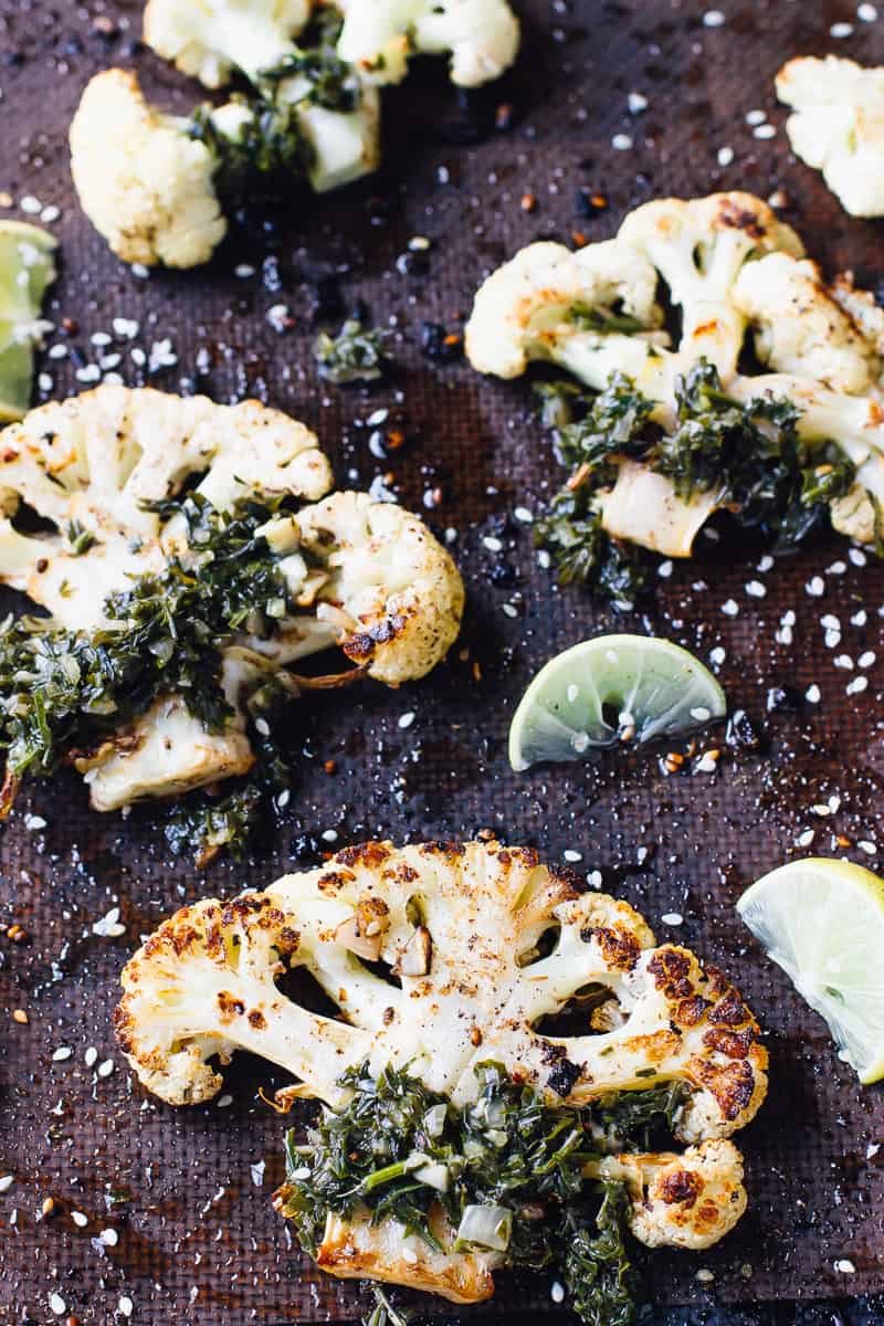 Get ready for a new kind of steak! These Za'atar Roasted Cauliflower Steaks are beautifully roasted, tender and insanely flavourful! They're also low carb! via https://jessicainthekitchen.com