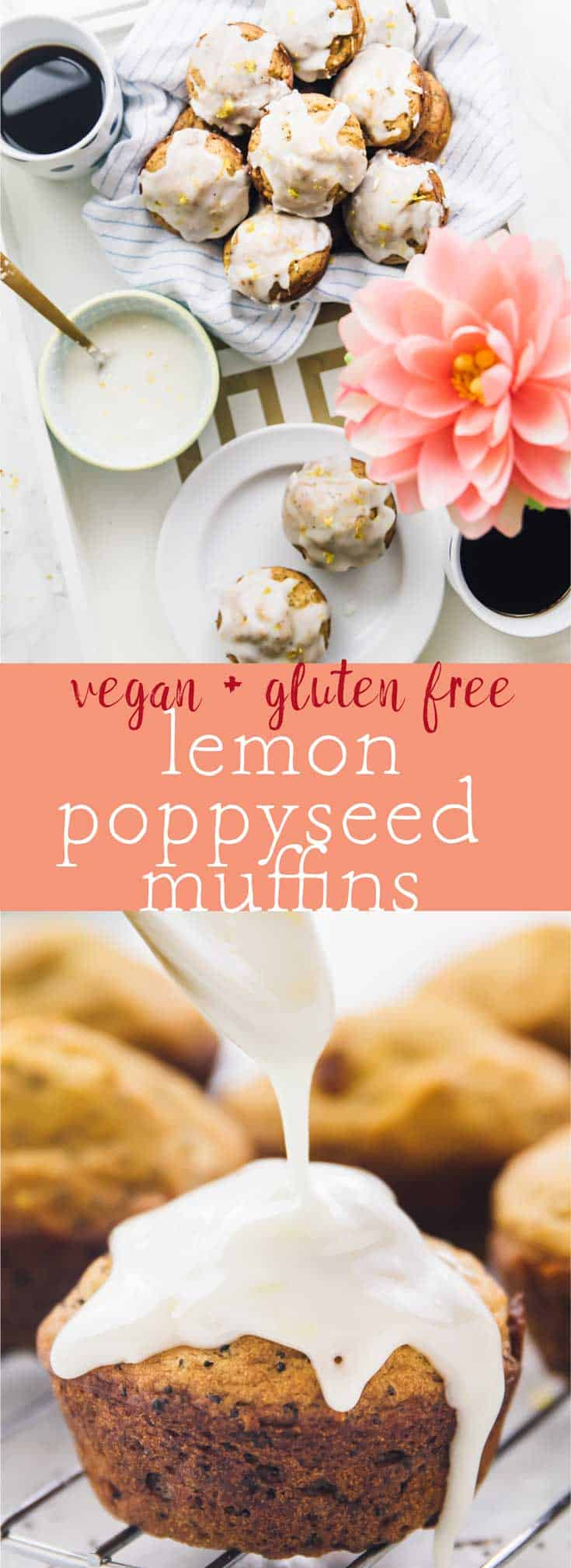 These Lemon Poppyseed Muffins are perfect for Spring & Mother's Day! They come together in one bowl and are vegan and gluten free! via https://jessicainthekitchen.com
