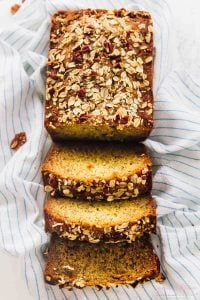 Enjoy deliciously moist banana bread with this Vegan Banana Bread that's also gluten free! It's made with healthier ingredients but still absolutely divine! via https://jessicainthekitchen.com