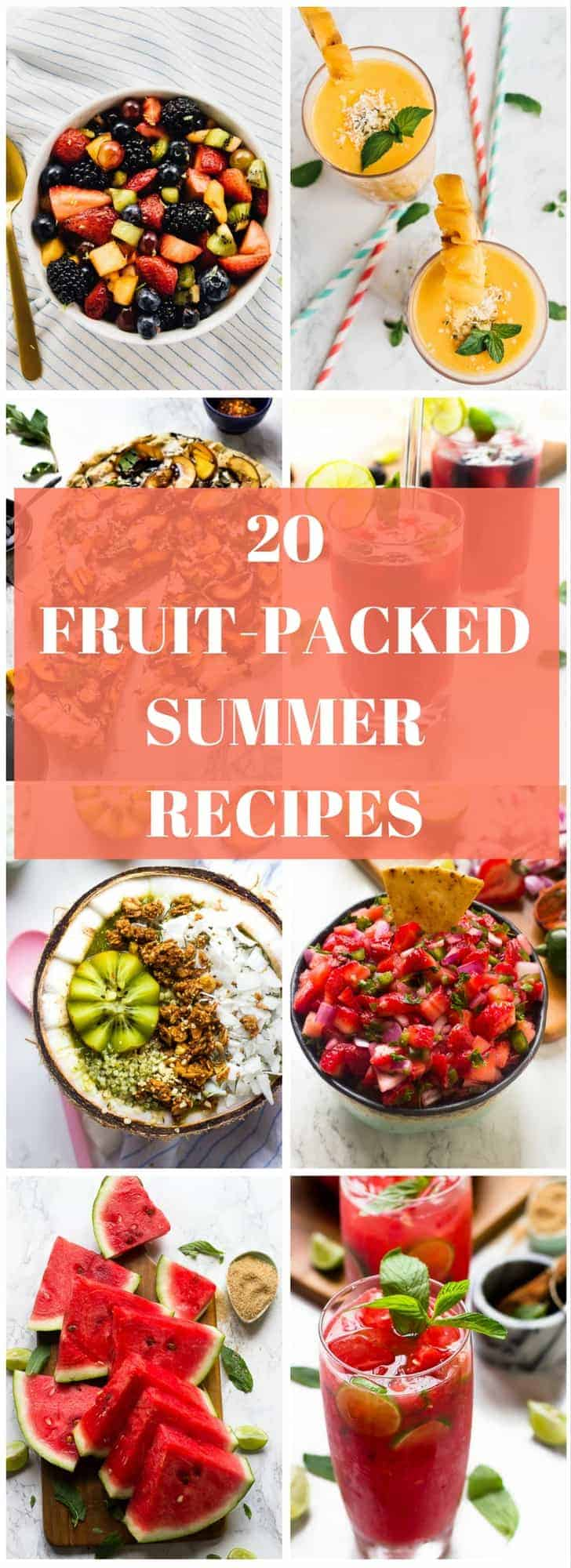 Try these 20 Fruit-Packed Summer Recipes for Summer 2017! They are loaded with so much juicy flavour and will please your family and friends!