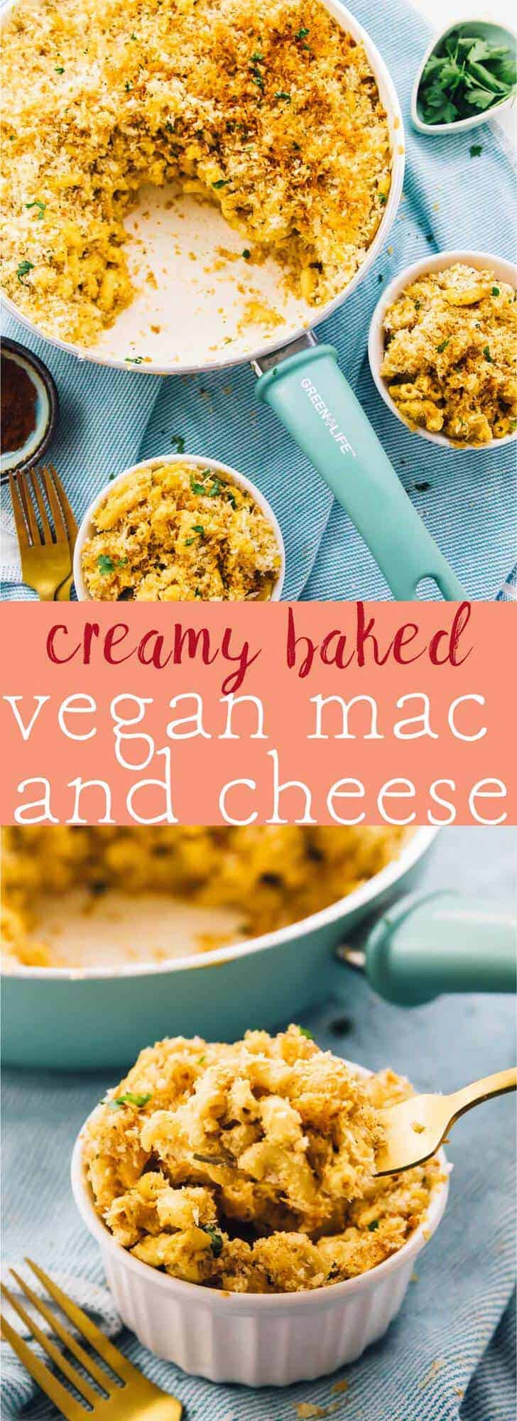 This Creamy Baked Vegan Mac & Cheese is undeniably divine! Made with an amazing, cashew based 'cheese' sauce, it's the perfect addition to any meal! https://jessicainthekitchen.com