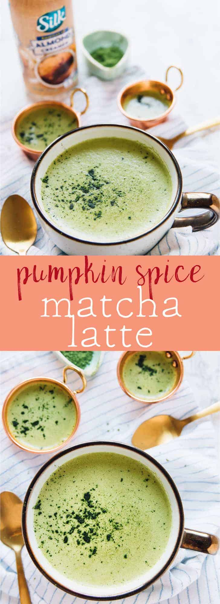This Pumpkin Spice Matcha Latte is very seasonal and also gives you a delightful boost of energy naturally! It's easy to make and so frothy since it's made in a blender! via https://jessicainthekitchen.com