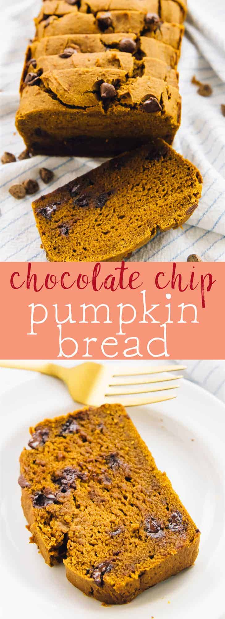 This moist Vegan Chocolate Chip Pumpkin Bread will win you and all your friends over! It's gluten free, easy to make and taste absolutely divine! via https://jessicainthekitchen.com