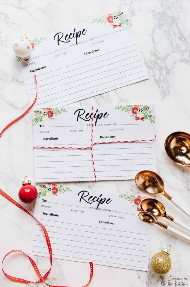 Free Printable Recipe Cards! via https://jessicainthekitchen.com