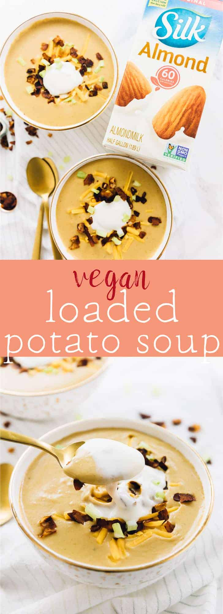 This Vegan Loaded Potato Soup will give you all the comfort! It's made in one pot, blended to perfection and topped with coconut bacon! via https://jessicainthekitchen.com